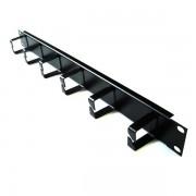 Panel pasacables rack 6 bocas vertical