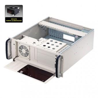 "Caja rack 19"" 4U ATX fuente de 300W"