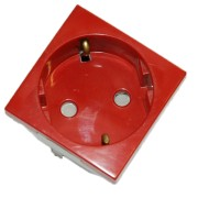 Base schuko eléctrico hembra rojo