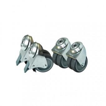 Ruedas para rack acústico kit 4 unds alta carga con freno