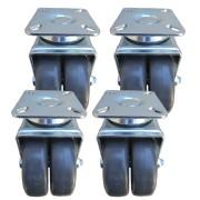 Ruedas para rack  kit 4 unds alta carga