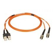 Latiguillo fibra óptica dúplex OM1  1m ST-SC MM 62.5/125