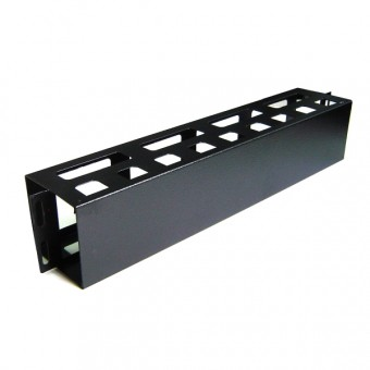 Panel pasacable rack  2U con tapa