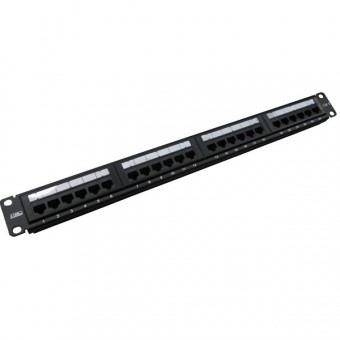 Patch panel rack  1U,  24 x RJ45 Cat5