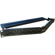 Patch panel angulado rack  1U  24 x RJ45 Cat6A