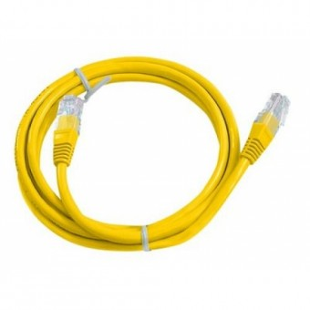 Latiguillo RJ45 Cat6 UTP 0.5m amarillo