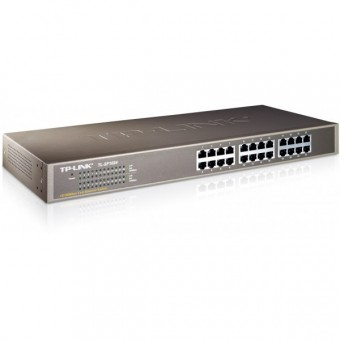 "Switch TP-LINK 24 puertos 10/100Mbps rack 19"""