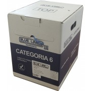 Cable BlueLine Cat6 UTP, Flex, LS0H,  Gris.  (caja de 305m)