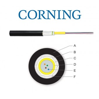Cable fibra optica Monomodo exterior / interior 4x FO SM OS2 - Por metro Corning