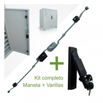 Kit maneta abatible y sistema de varillas para rack de custodia