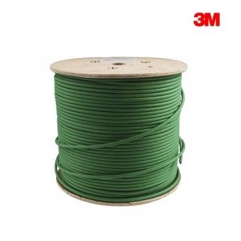 Bobina cable Cat 7 S/FTP CCA 500m 3M Verde