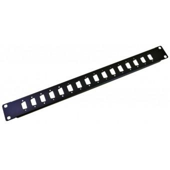"Panel Sub D 9 Pin x 16 1U rack 19"""
