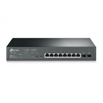 Switch TP-Link  Smart Gigabit PoE+ 8 Puertos y 2 Ranuras SFP JetStream Rack 19