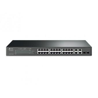 Switch TP-Link  Smart PoE+ 24 Puertos 10/100 Mbps y 4 ports Gigabit Rack 19