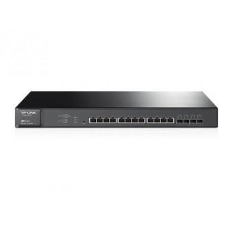 Switch TP-Link Smart Gigabit 12 puertos G10GBase-T y 4 Ranuras SFP + 10G JetSteamRack 19