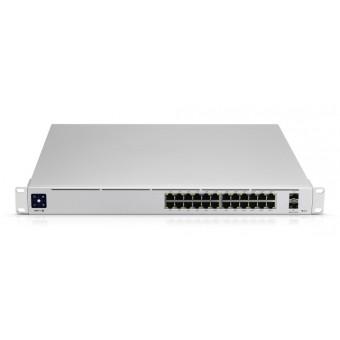 "Switch Ubiquiti Gestionable 24 puertos Gigabit POE y 2 Ranuras SFP + Rack 19"""