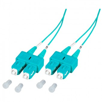 Latiguillo fibra óptica dúplex OM3  2m SC-SC MM 50/125