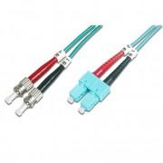 Latiguillo fibra óptica dúplex OM3  1m SC-ST MM 50/125