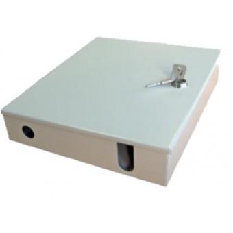 Caja mural fibra óptica. Placa para 24 adaptadores ST o FC simplex