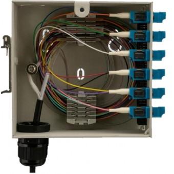 Caja fibra óptica para montaje en Carril DIN para 12FO