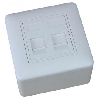 Caja de superficie  2 X Rj45 Keystone 80 x 80