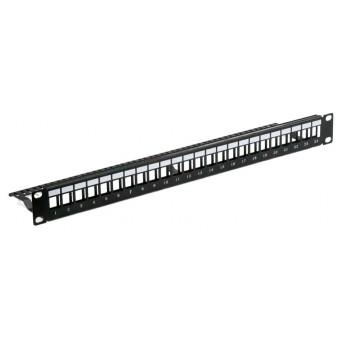 Patch panel vacio rack  1U  24 x Modulos Keystone Lapara