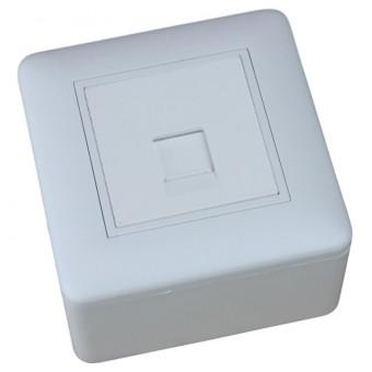 Caja de superficie 1 X Rj45 Keystone 80 x 80