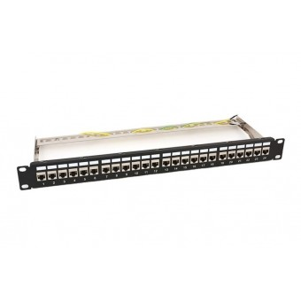 Patch panel rack  1U  24 x RJ45 doble hembra Cat6 FTP
