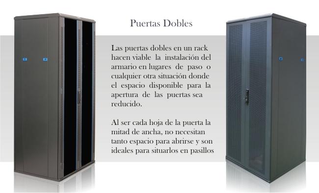 "Puertas dobles para rack 19"""